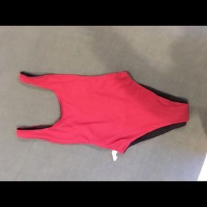 Maroon and black reversible aerie one piece